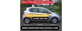 First 4 Hrs £89. Manual Driving Lessons Only.