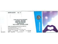 Lionel Richie Tkts -Scarborough Open Air concert 19/6/2018 - 3rd Row Centre stage