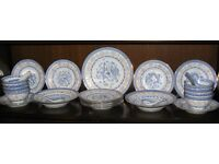 Chinese Tableware - Porcelain Dragon Design with traditional translucent rice grain feature.