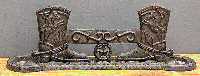 CAST IRON -Western Cowboy Boot Scraper with Horseshoes