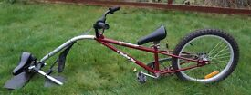 Tag-along Trailer Child Bike with or without seat
