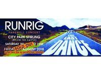 Runrig seated tickets(2) Saturday night £180