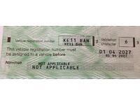 Private registration- KE11BAN