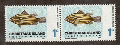 Christmas Island Scott 22 - Golden Grouper. Horizontal Pair MNH. OG.   #02 CI22P
