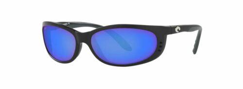 NEW Costa Del Mar Fathom Black Frame w/ Blue Mirror Glass 580G Lens FA11OBMGLP