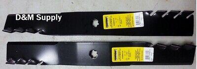 Set Of 2 John Deere 38 Mulching Predator Blades M82408 M112991 M83459 M84472