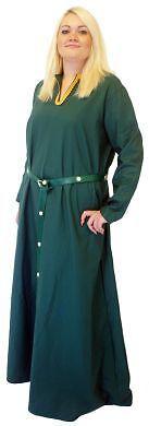 Medival Costumes (MEDIVAL/LARP/SCA/RE ENACTMENT HANDMAIDEN GREEN KIRTLE LADIES PLUS SIZE)