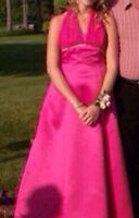 Fuschia prom dress 80$