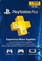 PS4 One Year Subscription $50.00 Playstation Plus!!