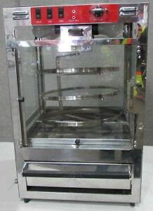 Pizza oven with three tier roating glass display cabinet - combe