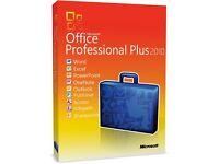 genuine m.s office suite 2010 pro plus new on original m.s discs with lifetime licences
