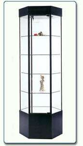 Black Glass Display Cabinet