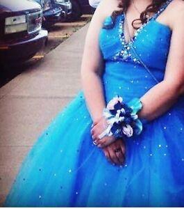 Beautiful Blue Graduation Dress/Prom Dress