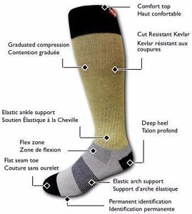 NO Hockey Player should be without Kevlar Cut Resistant Socks Protect Your Achilles Order Today FAST AFFORDABLE SHIPPING
