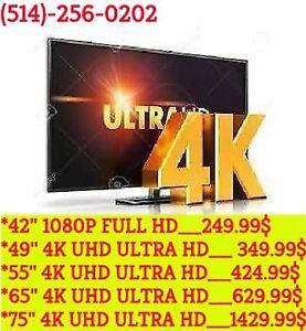"""TELEVISION 4K LED TV LED MEILLEURS PRIX 49"""" 4K _369$ /55"""" _425$"""