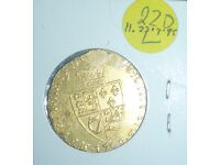 Gold coin, Spade guinea UK 1798 George III. UNC but slight scraping near edge