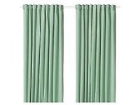 SANLEA curtains, light green, 145x250cm WAS £45 IKEA Edinburgh #bargaincorner