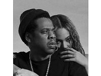 2 x tickets (West Pitch Standing) Beyonce & Jay- Z, London, Saturday, 16th June £100 each