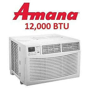 USED* AMANA WINDOW AIR CONDITIONER AMAP121BW 256690718 12,000BTU WITH DEHUMIDIFIER BARE UNIT ONLY