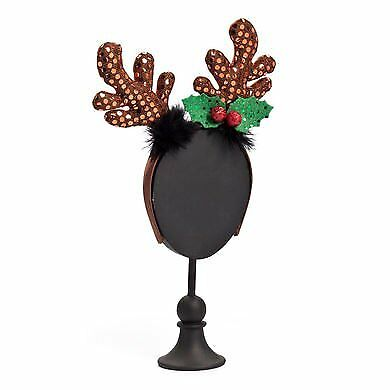 Demdaco Silvestri Collection Sequin Reindeer Antlers Headband - Reindeer Antler Headband