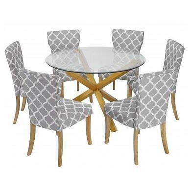 LPD Oporto Soild Oak And Glass Large Round Table OPORTOPLUS