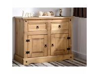 Corona 2 door 2 drawer sideboard brand new boxed £65 RRP 199.99 matching coffee table also for sale