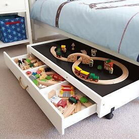 ** RARE GLTC Children's Under Bed Play Table with Storage on Wheels **