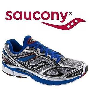 NEW SAUCONY SHOES MEN'S 11.5 GUIDE 7 207123217 GUIDE 7 SILVER BLUE BLACK RUNNING SHOE