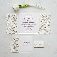 Custom Wedding Invitations, Napkins, Table Cards and more!