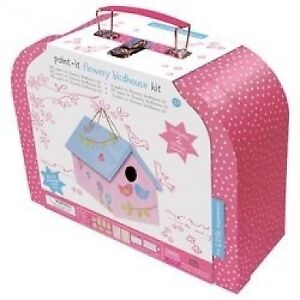 New The Little Experience Paint It Flower Birdhouse Kit