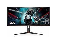 "AOC CU34G2X 34"" UWQHD 1ms 144hz Curved Gaming Monitor"