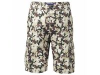 BRAND NEW with tags SIZE 38 CHARLES WILSON CAMO / CAMOUFLAGE SHORTS