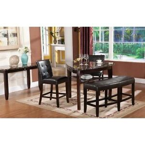 4 Piece Counter Height Pub Style Dining Package