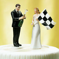 SALE --- Bride at Finish Line & Victorious Groom Cake Toppers