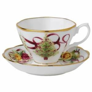Royal Albert Old Country Roses Christmas Tree Tea Cup & Saucer Sunshine West Brimbank Area Preview