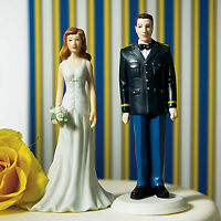 Military Groom/Fashionable Bride Wedding Cake Topper - 50% OFF