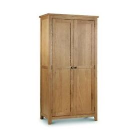 Solid Oak Double Wardrobe, Brand new boxed