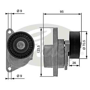 Gates Automatic Belt Tensioner 38190 Volvo 1992-2010 all models