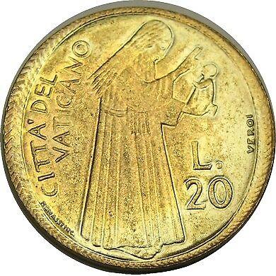 elf Vatican City 20 Lire 1975 Pope Paul VI  Holy Year