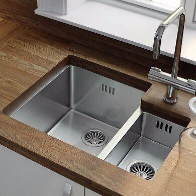 BRAND NEW - Wren 1.5 Bowl Kitchen Sink, Stainless Steel (430x558 ...