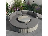 Outdoor Garden Circular Furniture Sofa Set With Day Bed