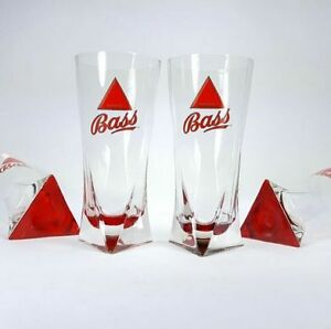 Bass Beer Glass with Red Triangle Base
