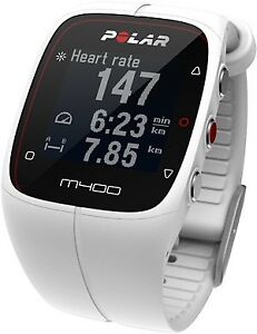 Polar M400 Heart Rate Monitor Watch in White
