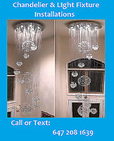 Chandelier & Lighting Installations || By Professionals