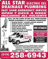 All Star Electric Eel Drainage & Plumbing/Sewer Cleaning Plumber
