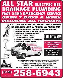 All Star Electric Eel Drainage & Plumbing/Sewer Cleaning Service