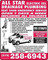 All Star Eel Drainage & Plumbing & Sewer Cleaning, Plumber