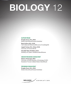 NELSON GRADE 12 BIOLOGY TEXTBOOK ONLINE WITH ANSWERS