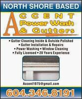www.accent power wash and gutters.com....Roof Leak? Sky Light Le