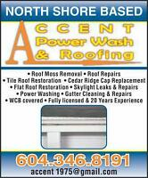 ACCENT Power Wash & Roofing .....Roof De-Moss...Gutters...Window